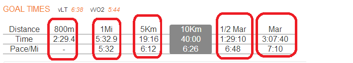 McMillan Running Calculator example 4